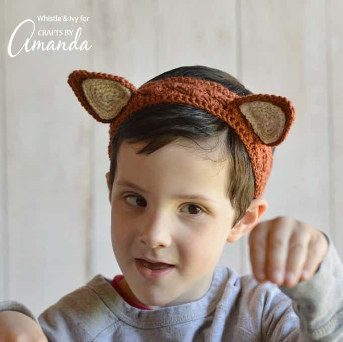 Crochet Headbands: adorable woodland animal ear headband ...