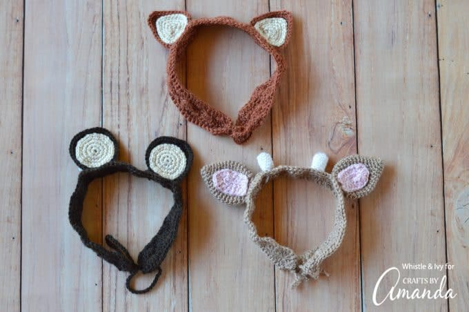Woodland Animals Crochet Headband Pattern