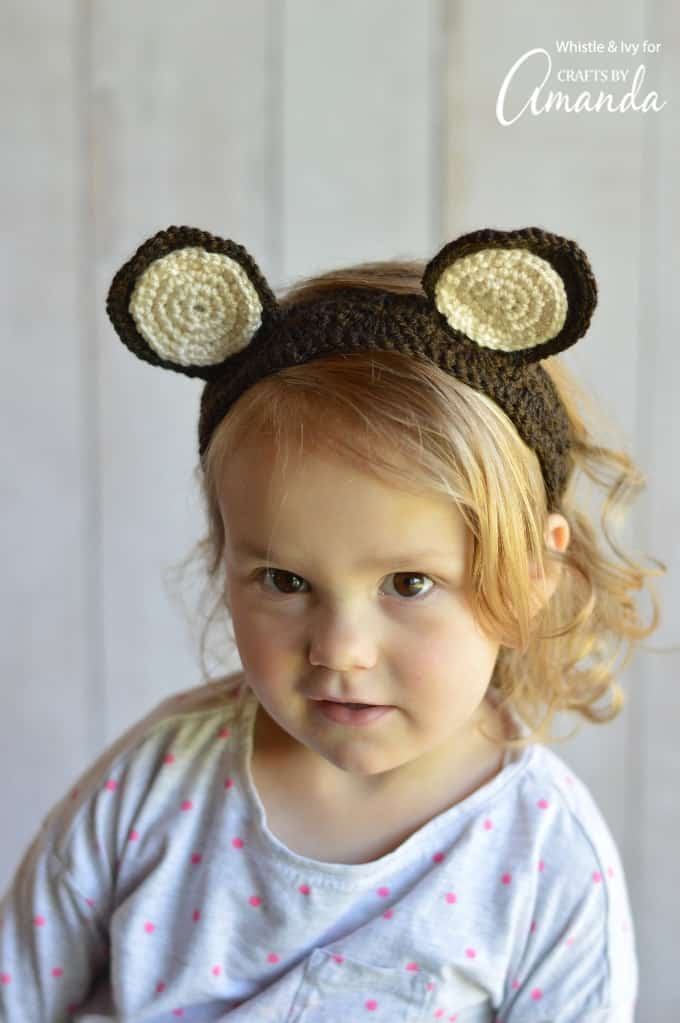 Woodland Animal Ears Crochet Headbands