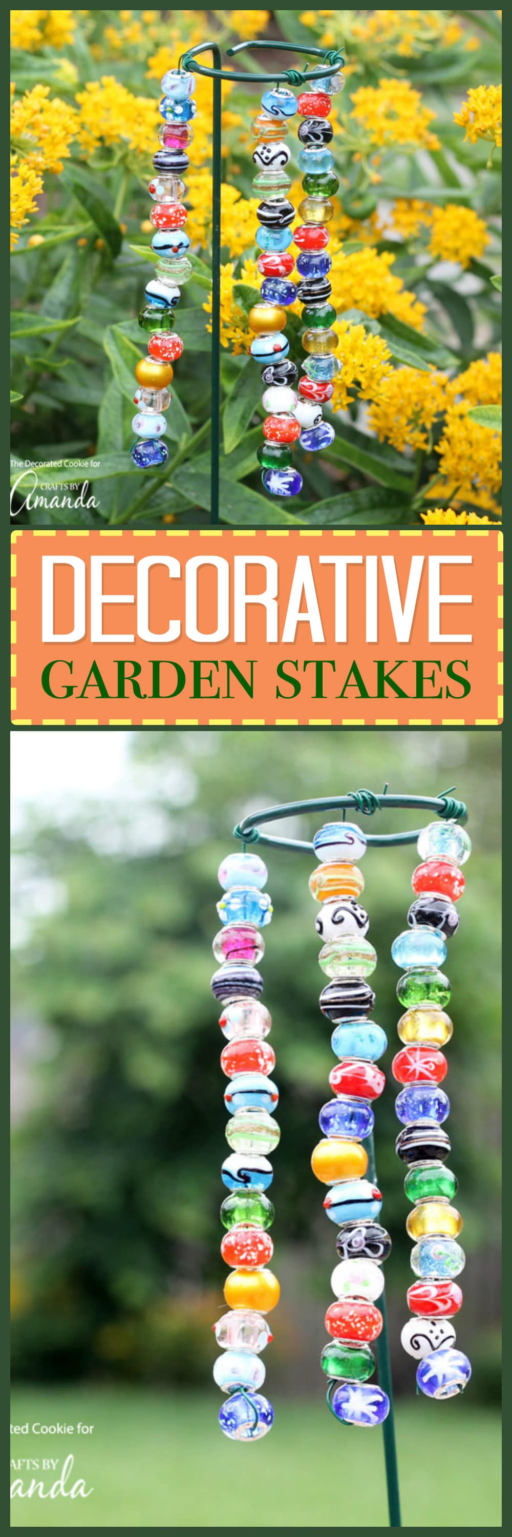 Decorative Garden Stakes: a pretty and easy garden DIY project!