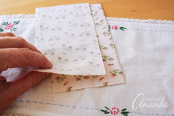 Determine what size you would like your sachet to be and add about 1/2-inch to each side.