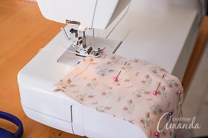 Sewing a straight stitch