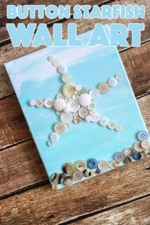 Button Starfish Wall Art