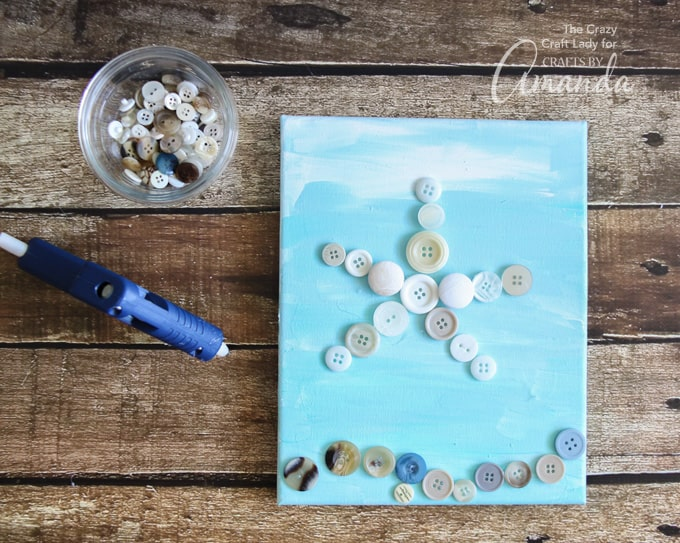 How to make starfish wall art with buttons