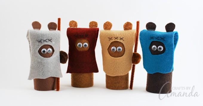 Star Wars craft - cardboard tube ewoks