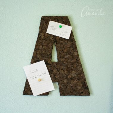 How to Make a Corkboard Wall Letter