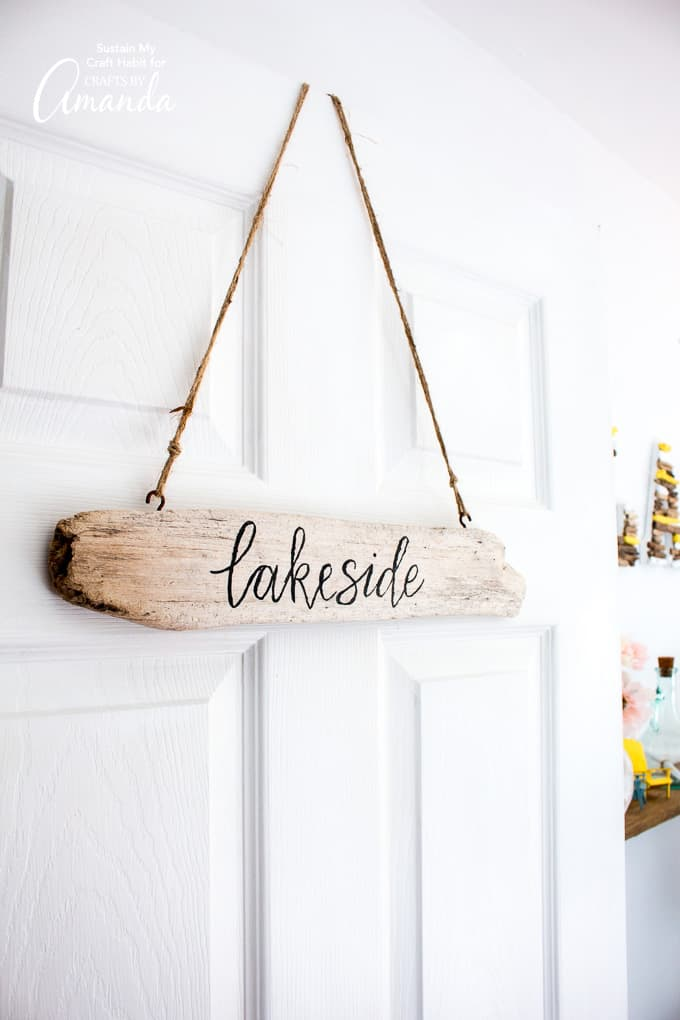 Driftwood Sign beach decor