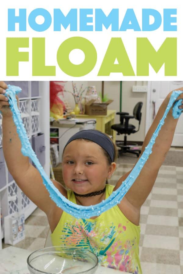 making homemade floam