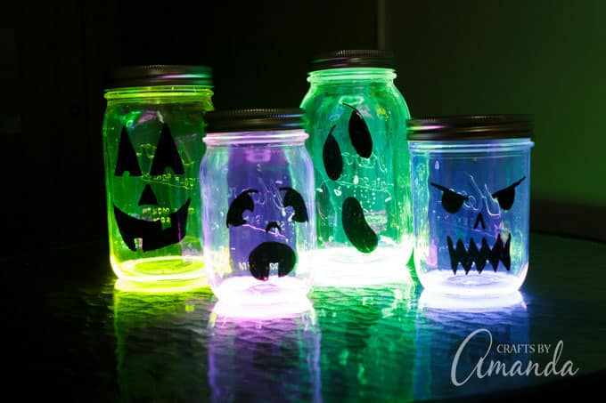 glowing pumpkin Halloween luminaries