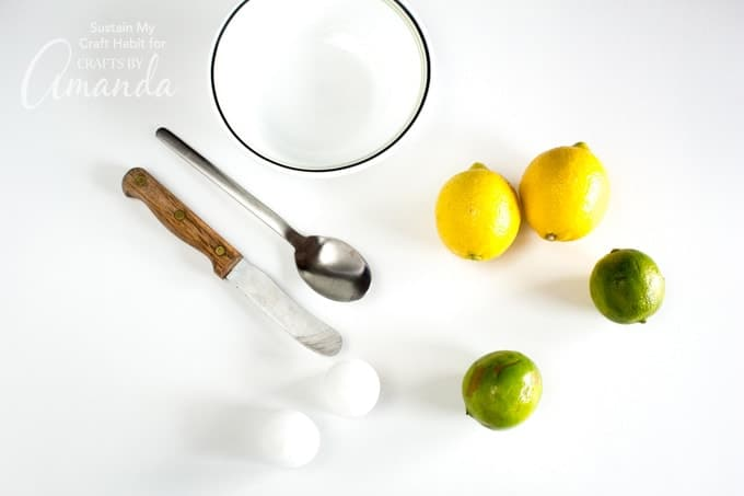 What you'll need to make Lemon Lime Votive Candles
