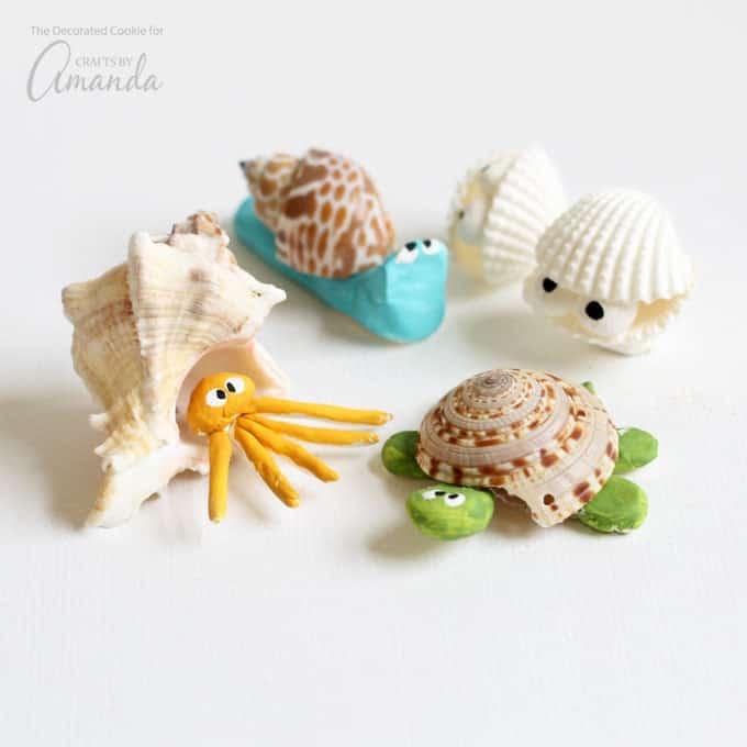 Super cute sea shell creatures!
