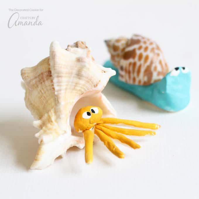 These sea shell creatures are cute, easy to make, and a great reminder of days at the beach.