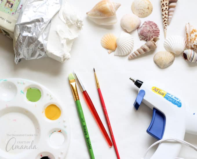 How to make sea shell creatures