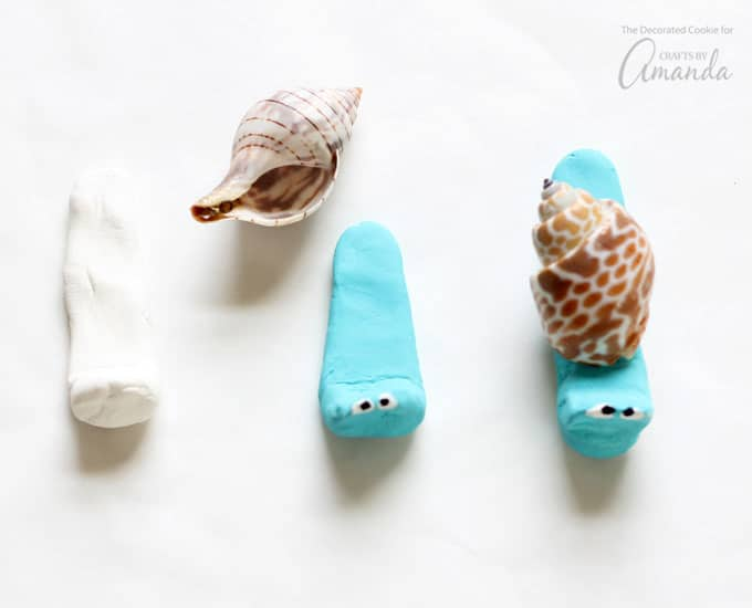 How to make sea shell creatures- snail