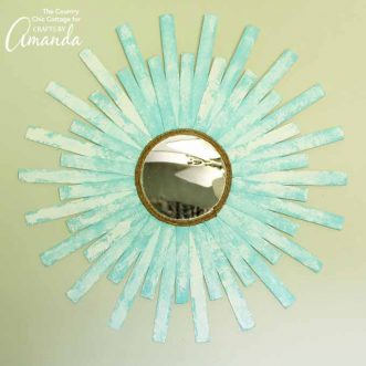 This DIY sunburst mirror requires only a few supplies and makes a beautiful statement piece. Add some elegance to your room in no time!
