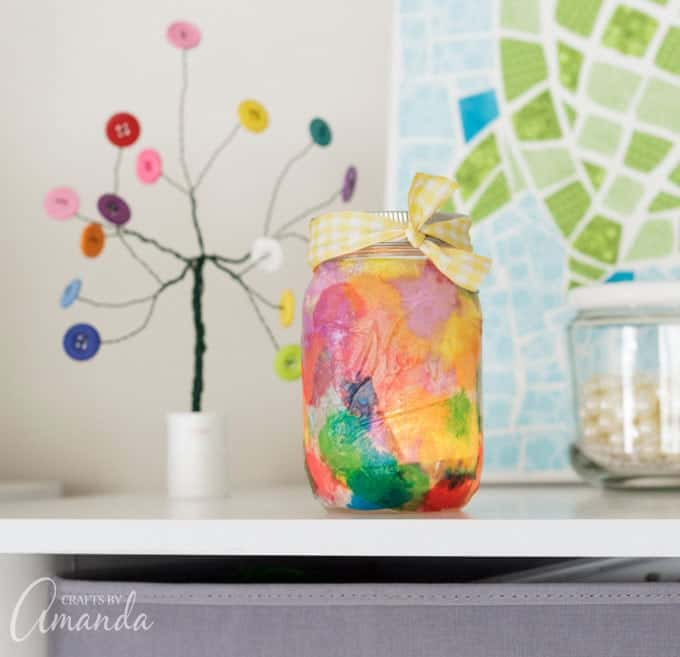 Making beautiful watercolor luminaries