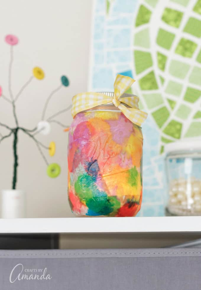 How to Make Watercolor Luminaries