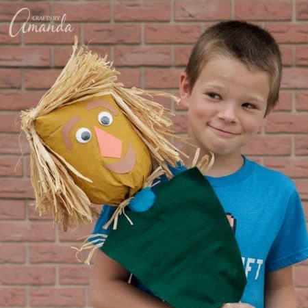 How to make a paper bag scarecrow