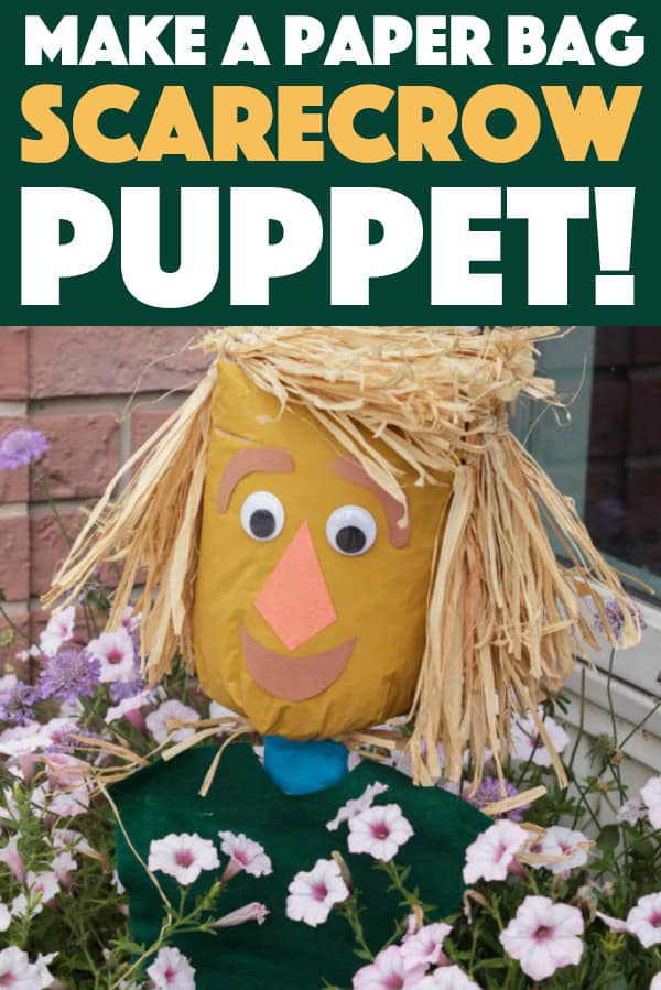 How to make a Paper Bag Scarecrow Puppet!