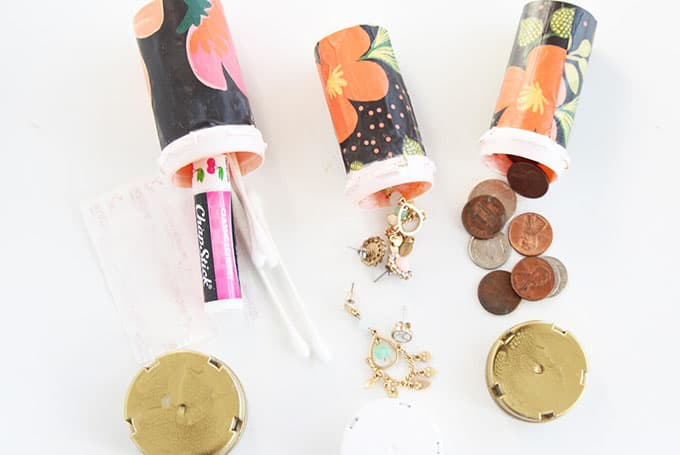 If you'd like to decorate your pill bottles, here's a fun decoupage idea for making them look prettier.