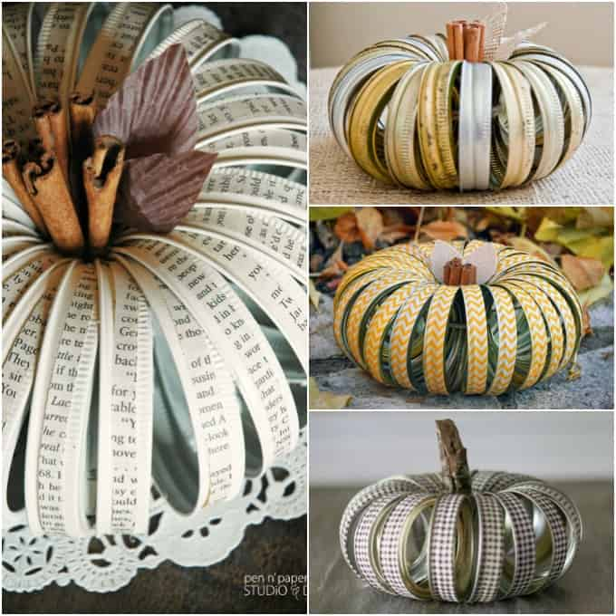 Canning lid pumpkin ideas