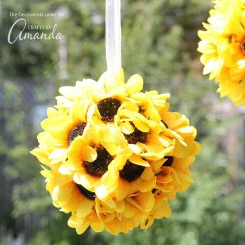 Sunflower Kissing Balls 2