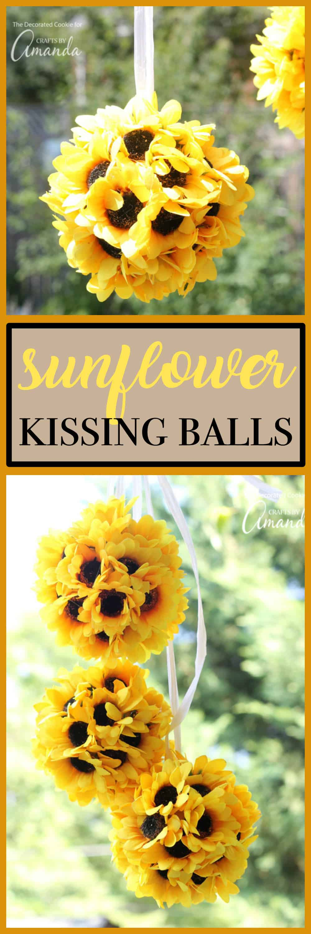Sunflower Kissing Balls An Easy And Beautiful Fall Decor Craft