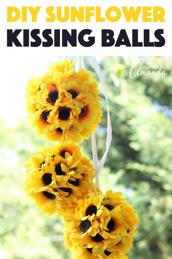 sunflower kissing balls craft