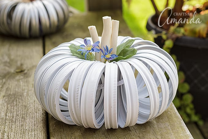 White canning lid pumpkin