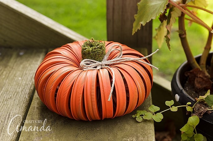 Orange canning lid pumpkin