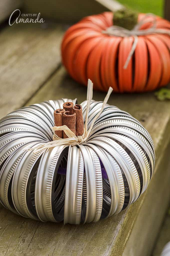 Ideas for decorating your mason jar lid pumpkins