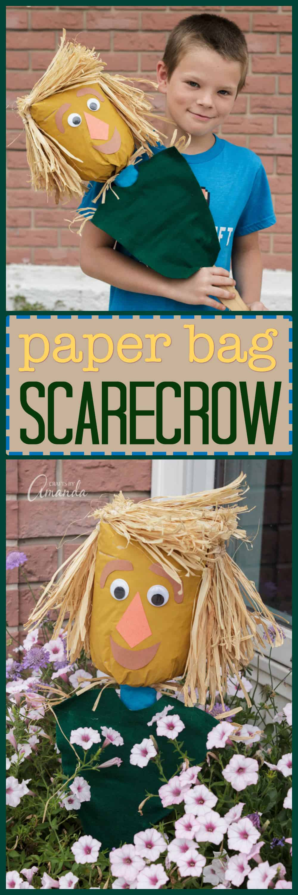Fall means scarecrows, and that means a fun fall craft for the kids! I created this paper bag scarecrow inspired by the new Amazon Original Kids Series Lost In Oz, now available on Prime Video! #AD #LostInOz