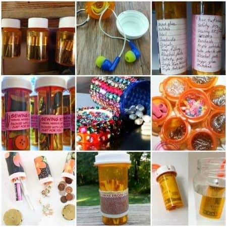 Reuse those empty prescription pill bottles in all sorts of ways. From organizing to making cookies. Yes, cookies! See how to use your empty pill bottles!
