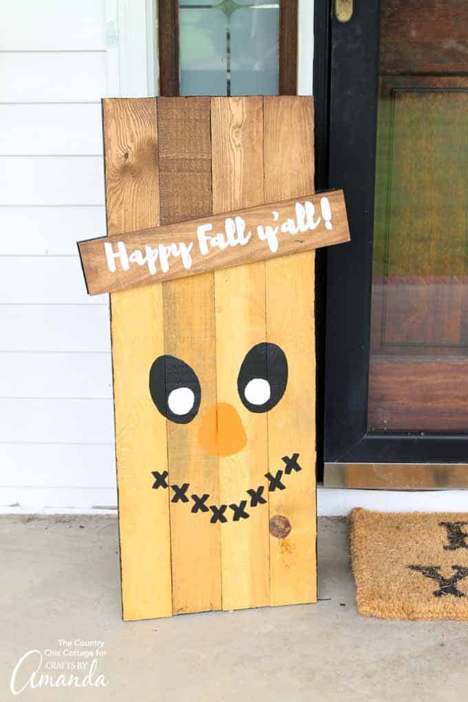 Reversible scarecrow sign