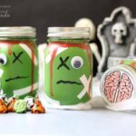 Easy to make zombie mason jars!