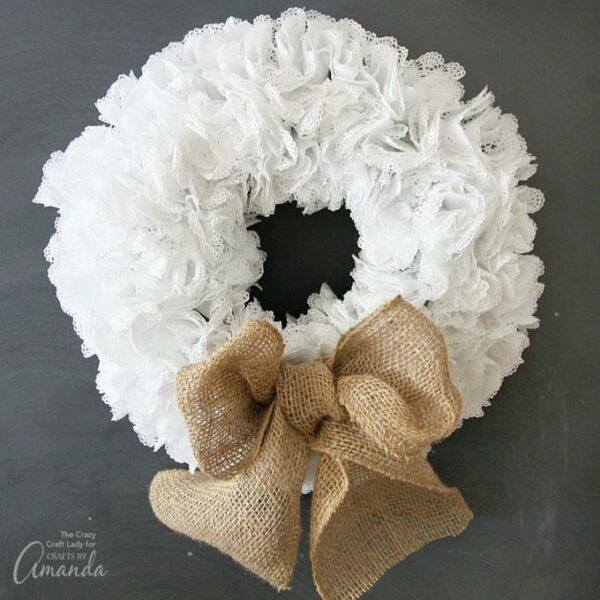 Doily Wreath