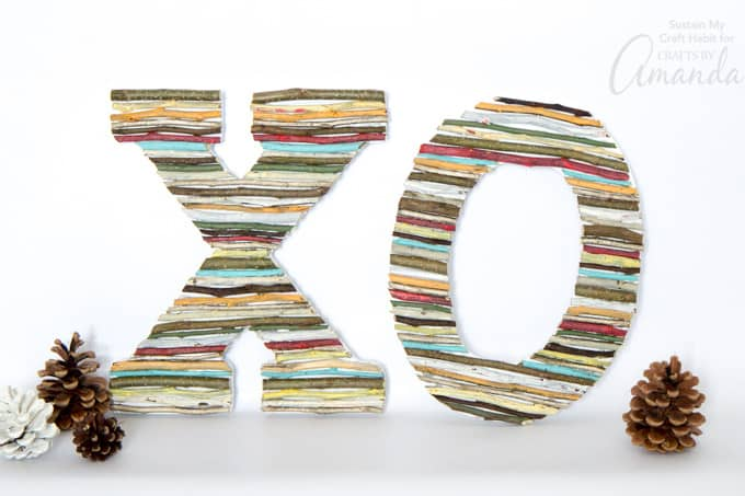 Fun and easy painted twig wall letters that just about anyone can make!