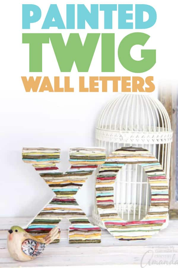 Painted Twig Wall Letters