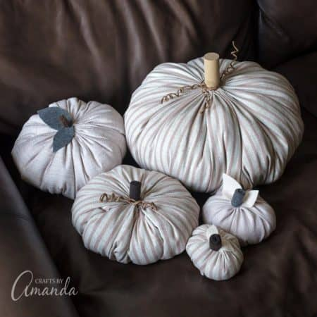 Fabric Pumpkins for Fall