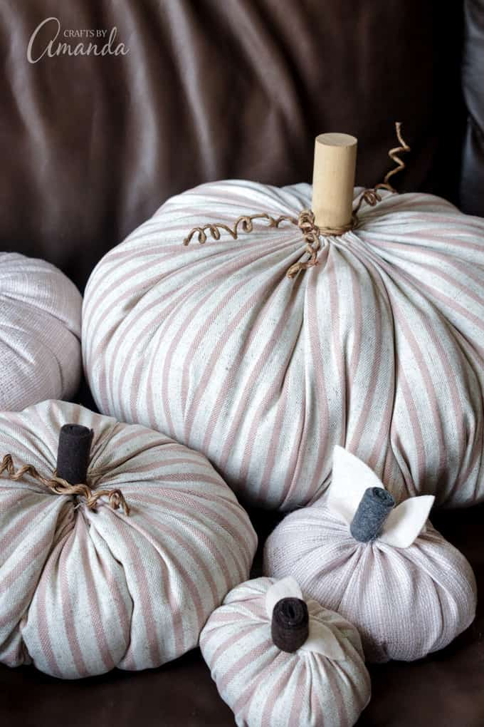 Pumpkins made from fabric