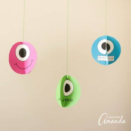 Twirling Paper Monsters: fun decoration for Halloween or a monster party!
