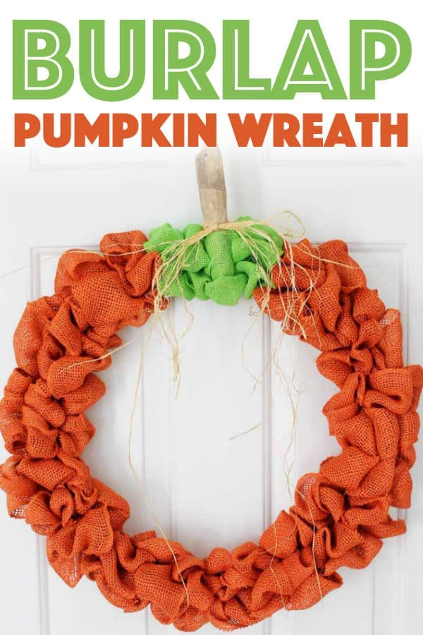 Burlap Pumpkin Wreath