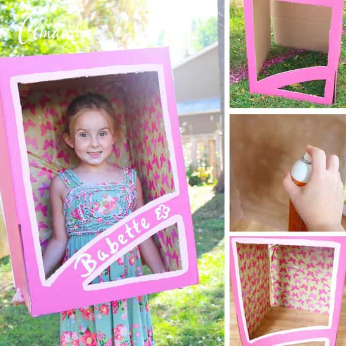 Doll in a box costume collage