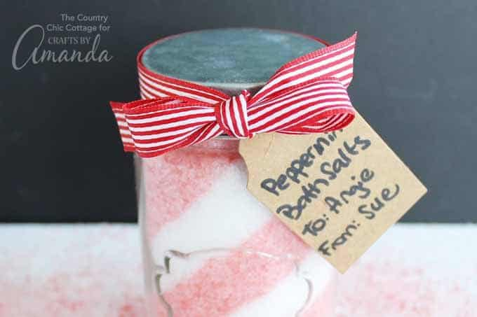 The peppermint bath salts themselves have just four ingredients and you may even have the supplies you need on hand.