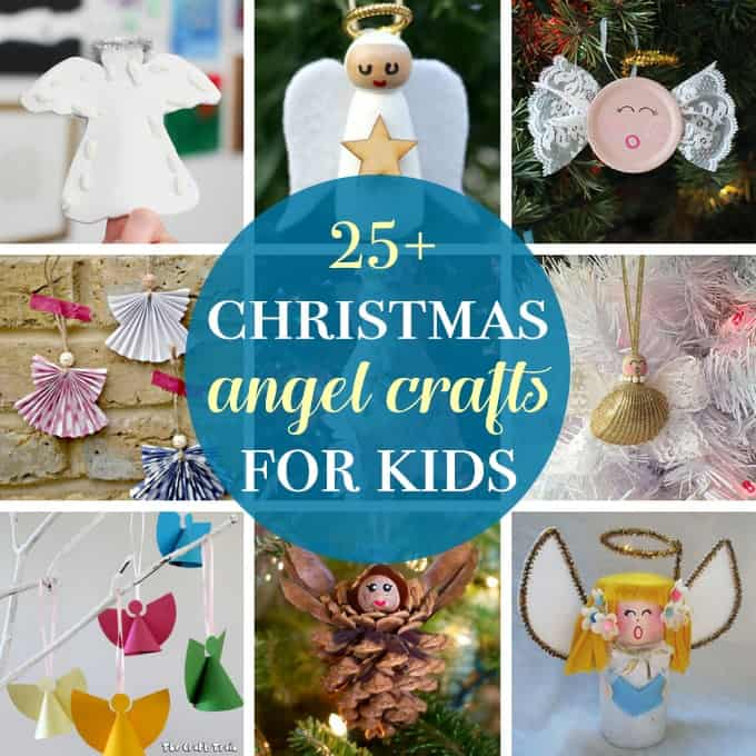 Angel crafts for kids collage