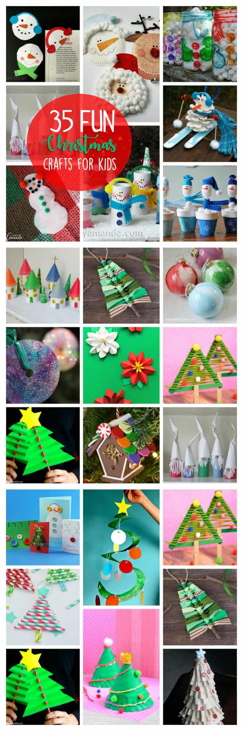Christmas Crafts for Kids - 35 fun and easy holiday ideas