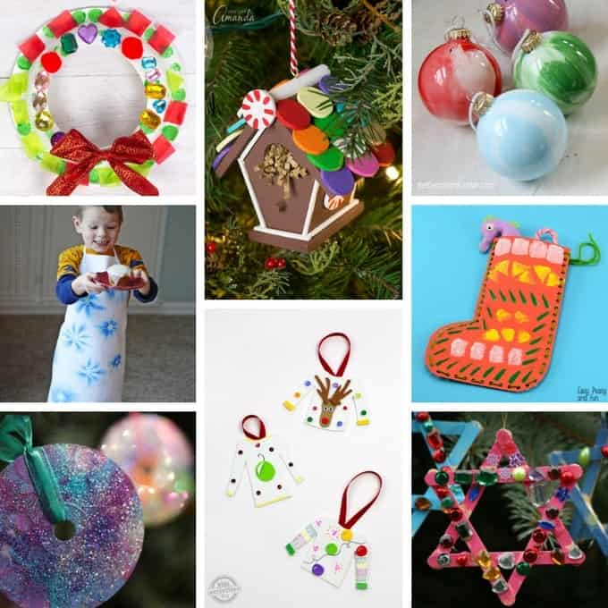 lots of Christmas crafts for the kids to make