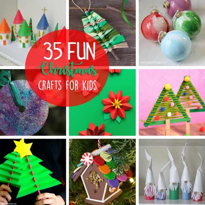 christmas crafts for kids 35 fun and easy holiday ideas. Black Bedroom Furniture Sets. Home Design Ideas