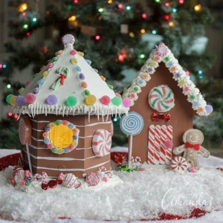 Learn how to make an adorable birdhouse gingerbread house to decorate your home for Christmas!