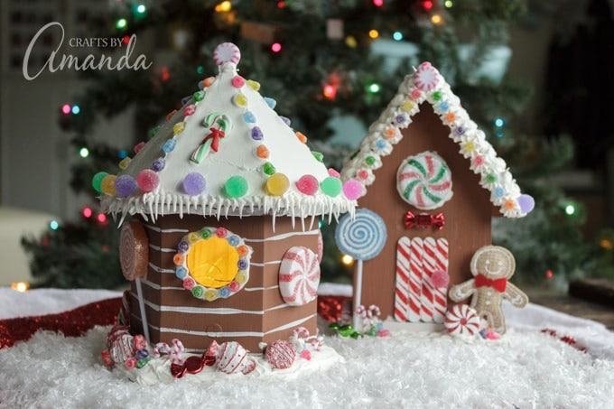 How to make Birdhouse Gingerbread Houses